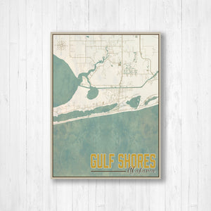 Gulf Shores Alabama Nautical Street Map