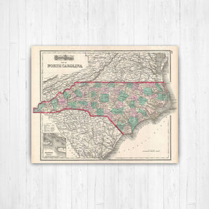 North Carolina State Map