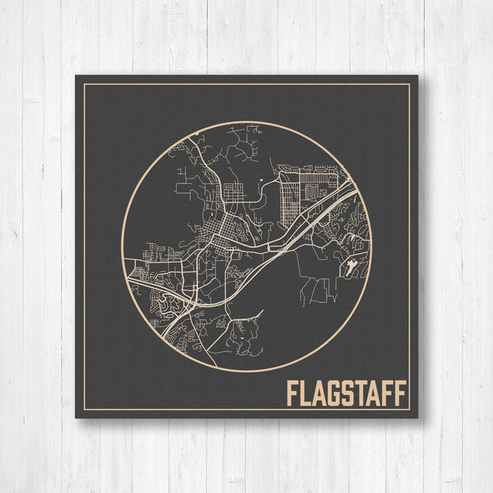 Flagstaff Arizona City Street Map Print