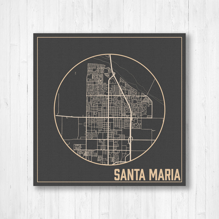 Santa Maria California City Street Map Print