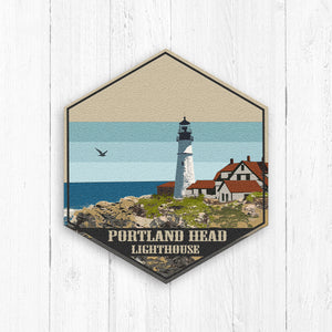 Portland Head Lighthouse Maine Hexagon Print