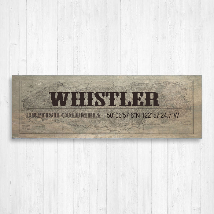 Whistler British Columbia Vintage Canvas