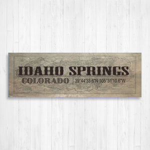 Idaho Springs Typography Canvas