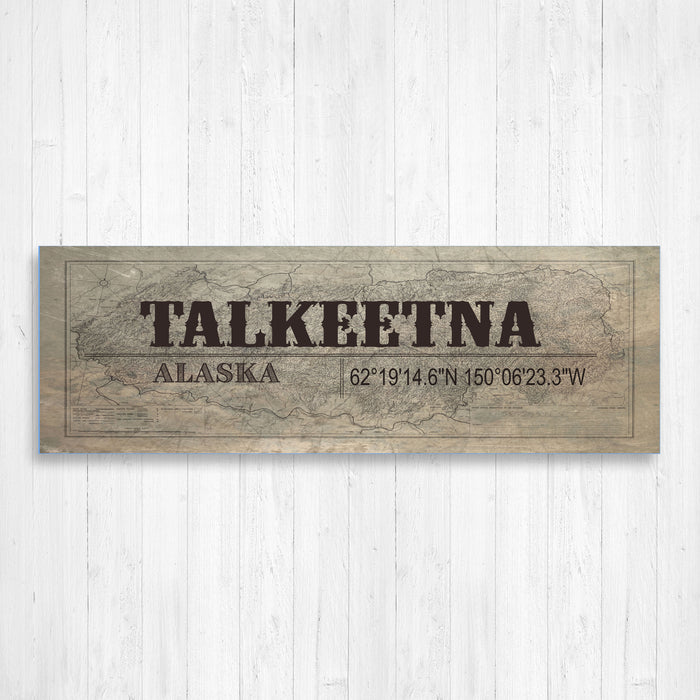 Talkeetna Alaska Wall Canvas Print