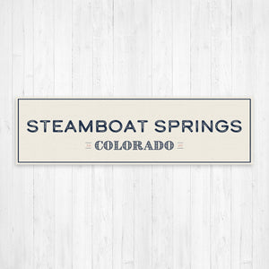 Steamboat Springs Colorado Wall Canvas