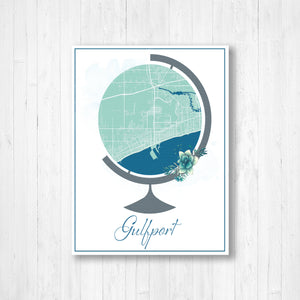 Gulfport Globe Street Map