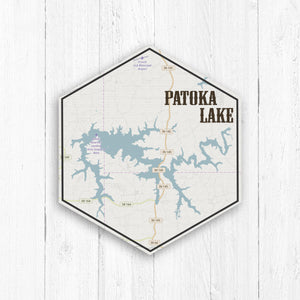 Patoka Lake Indiana Hexagon Map