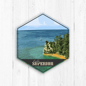 Lake Superior Hexagon Illustration