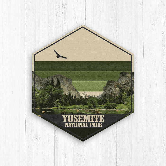Yosemite National Park Hexagon Illustration