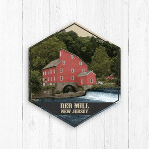 Red Mill New Jersey Hexagon Illustration