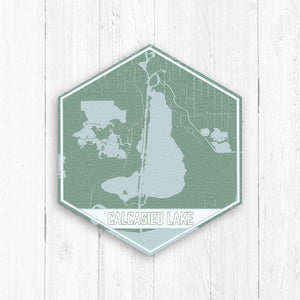 Calcasieu Lake Louisiana Hexagon Map
