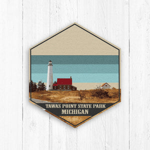 Tawas Point State Park Hexagon Canvas Print