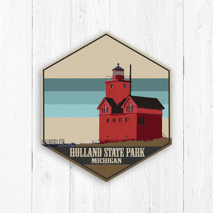 Holland State Park Hexagon Canvas