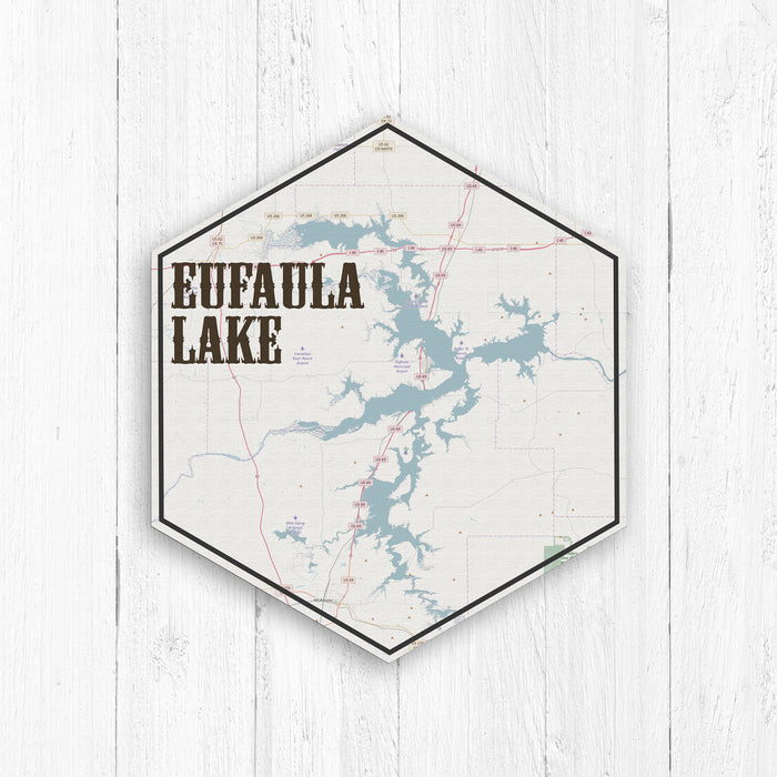 Eufaula Lake Oklahoma Hexagon Map
