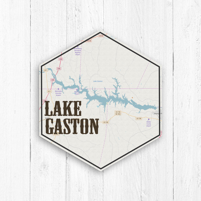 Lake Gaston Hexagon Canvas