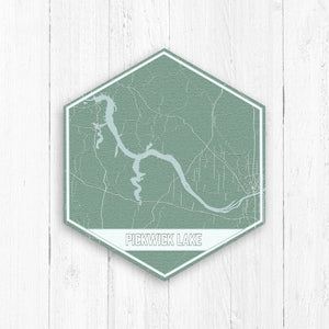 Pickwick Lake Mississippi Hexagon Map