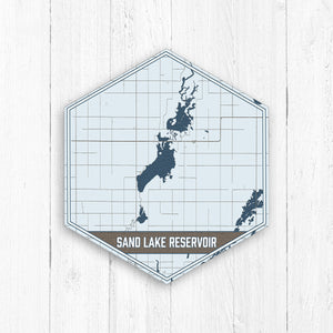 Sand Lake Reservoir South Dakota Hexagon Map