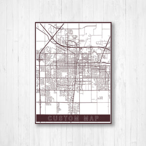 Custom City Street Map Print
