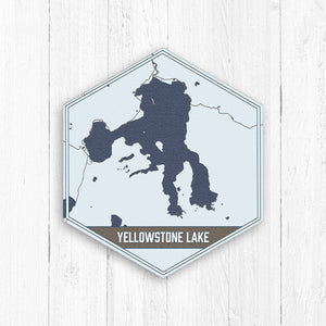 Yellowstone Lake Wyoming Hexagon Canvas Print