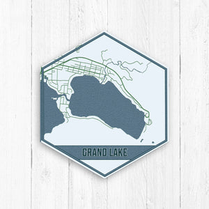 Grand Lake Colorado Hexagon Map