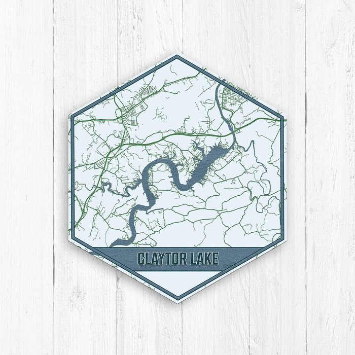 Claytor Lake Virginia Hexagon Map Print