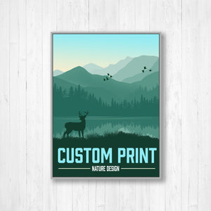 Custom Modern Illustration Print