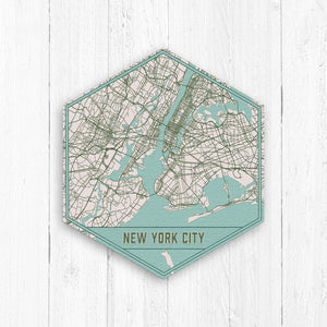 New York City  Hexagon City Street Map