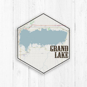 Grand Lake Ohio Hexagon Map
