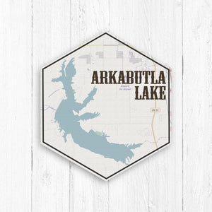 Arkabutla Lake Hexagon Map Canvas