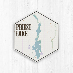 Priest Lake Idaho Hexagon Canvas