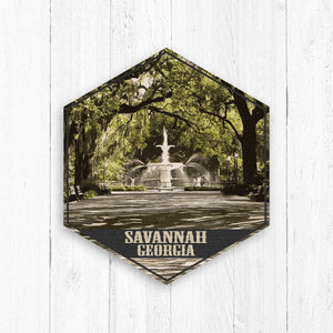 Savannah Georgia Hexagon Illustration Print