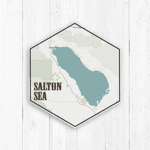 Salton Sea California Hexagon Canvas
