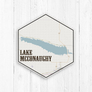 Lake McConaughy Hexagon Canvas