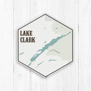 Lake Clark Alaska Hexagon Canvas