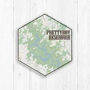 Prettyboy Reservoir Maryland Hexagon Canvas