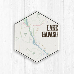 Lake Havasu Arizona Hexagon Canvas