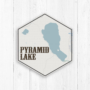 Pyramid Lake Nevada Hexagon Canvas