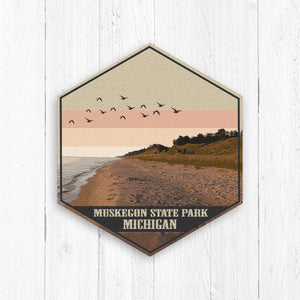 Muskegon State Park Michigan Print