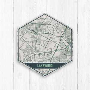 Lakewood New Jersey Hexagon Map