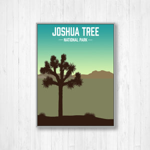 Joshua Tree National Park Modern Illustration Print
