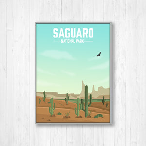 Saguaro National Park Modern Illustration Print