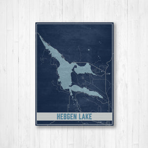 Hebgen Lake Map Illustration