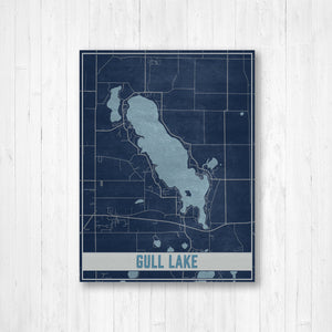 Gull Lake Map Print