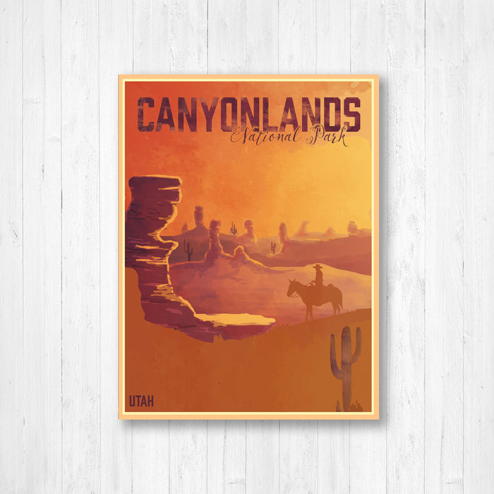 Canyonlands National Park Utah Modern Illustration Print