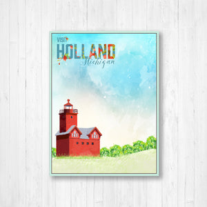 Holland, Michigan Watercolor Illustrations