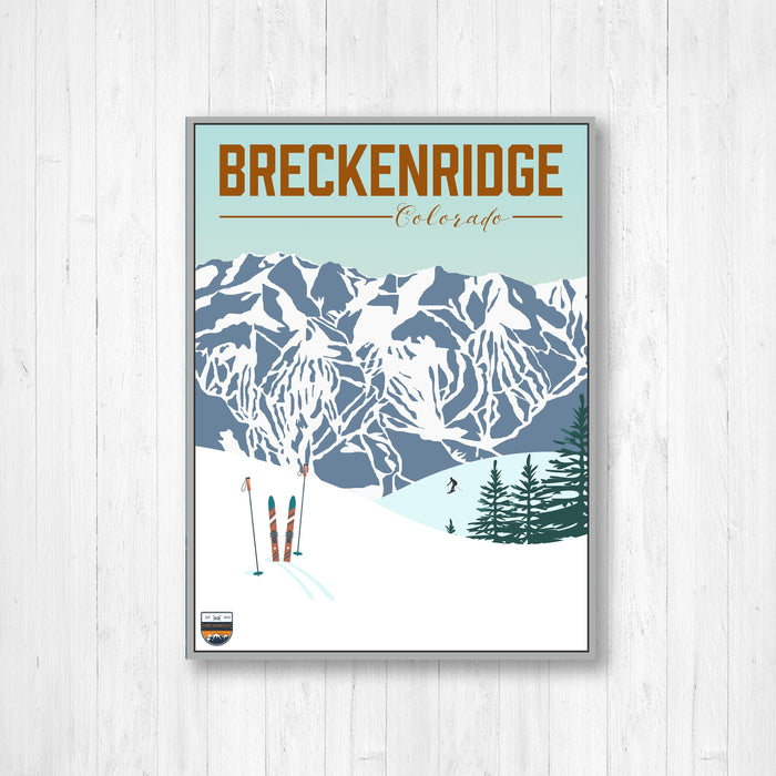 Breckenridge Colorado Ski Resort Modern Illustration