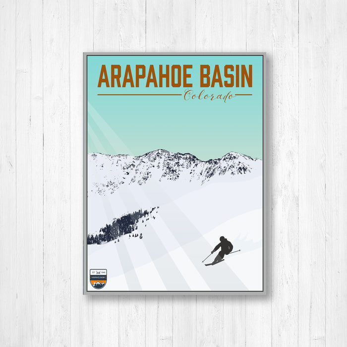 Arapahoe Basin Colorado Ski Resort Modern Illustration