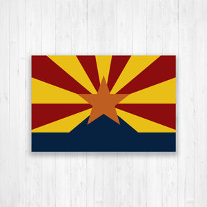 Arizona State Flag Map