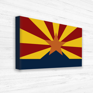 Arizona State Flag Map Canvas