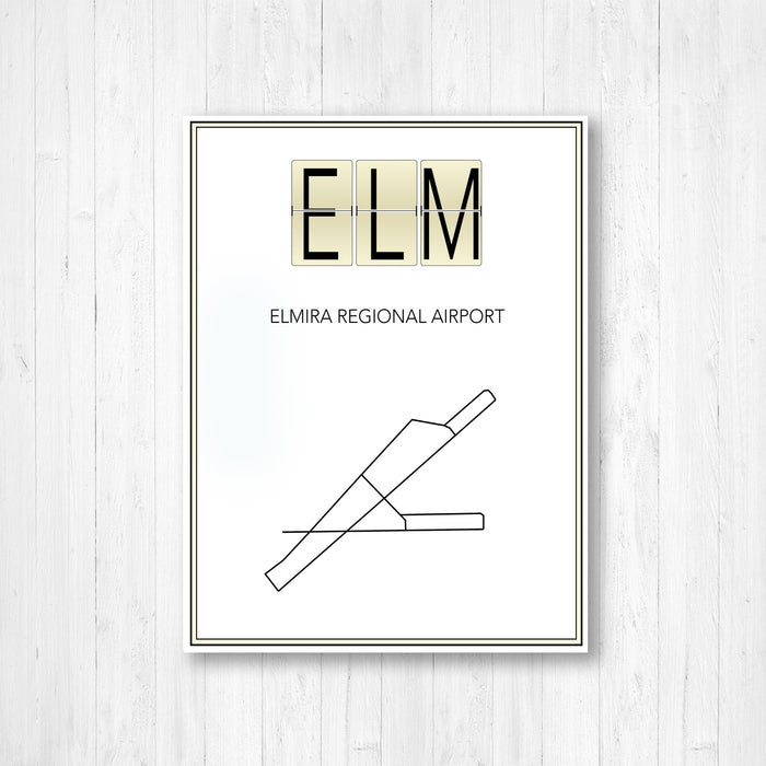 Elmira New York Regional Airport Map Print